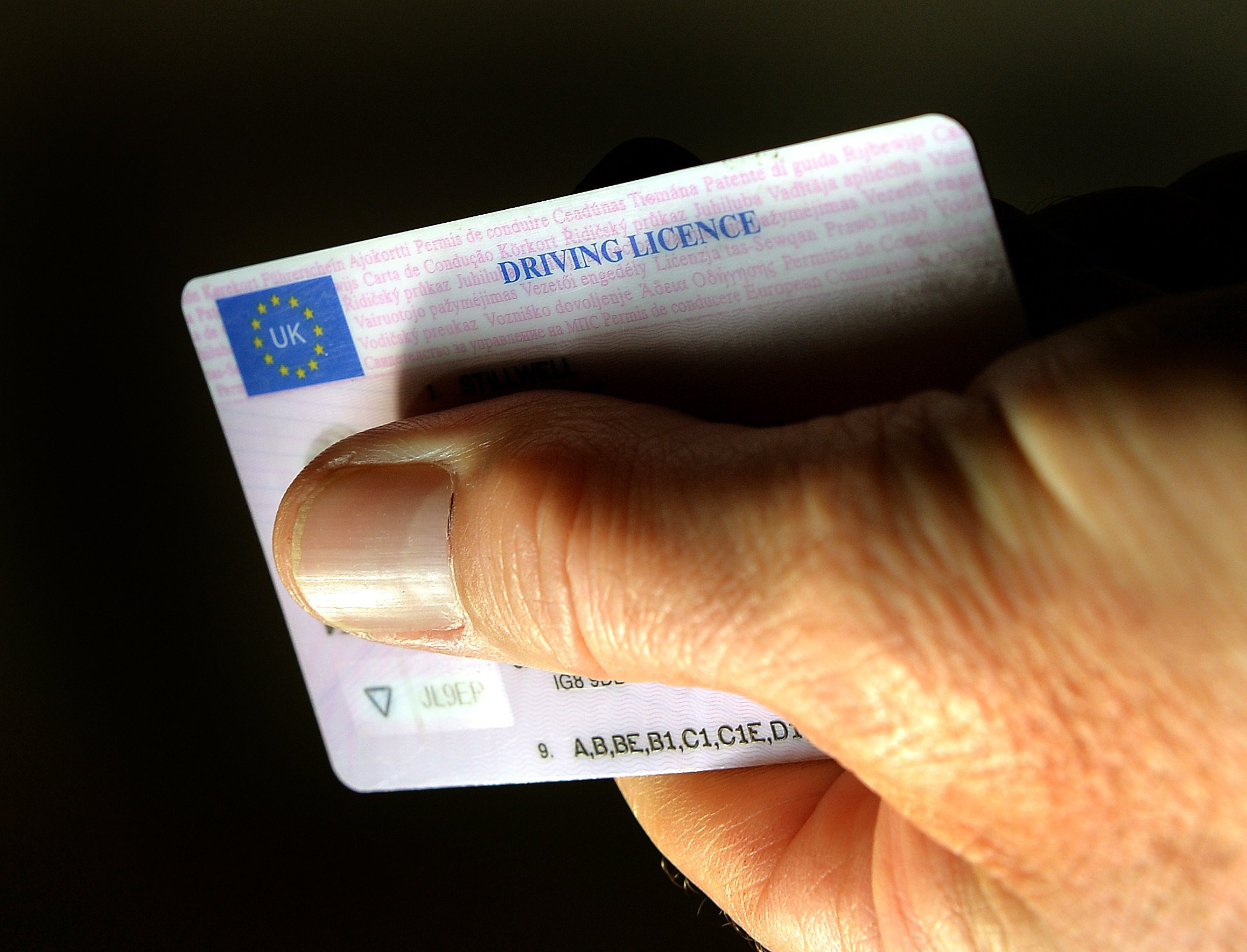 File photo dated 29/09/2014 of an UK driving licence identity card, as the Government has warned UK driving licences may no longer be valid on their own to drive in the European Union if there is a no-deal Brexit. PRESS ASSOCIATION Photo. Issue date: Thursday September 13, 2018. Drivers could need International Driving Permits (IDP) if the EU does not agree to recognise UK licences, according to new guidance. See PA story POLITICS Brexit Driving. Photo credit should read: John Stillwell/PA Wire