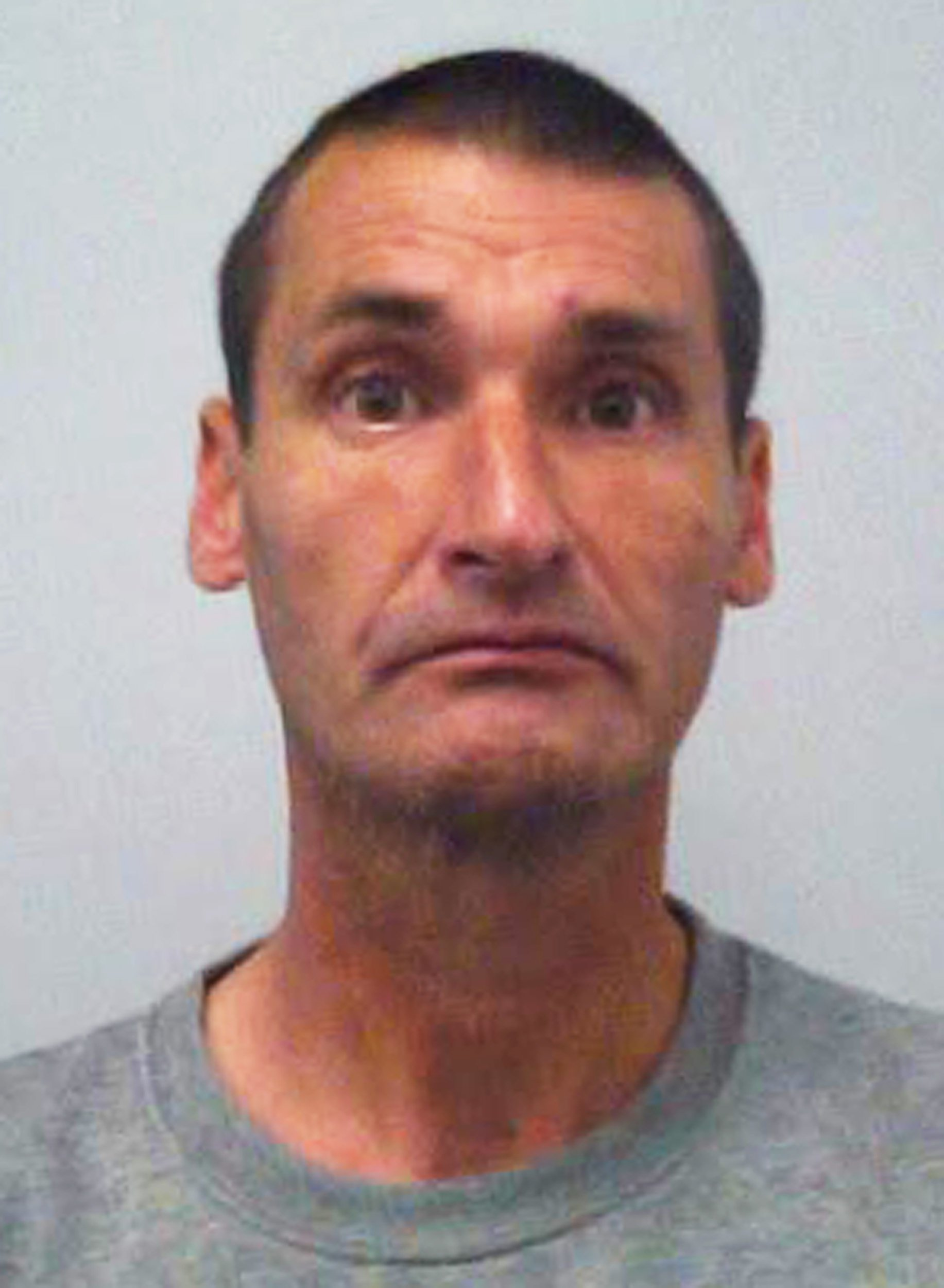 "INS News Agency Ltd. 13/09/2018 *************** Picture by Vagner Vidal *************** A laughing killer who used a screwdriver to stab his partner 29 times, jailed for life. Shane Clarke, 52, called 999 after murdering Joanne Bishop and laughed after telling the operator he had ""killed his missus."" He stuck his thumb up to Judge Ian Pringle sitting at Oxford Crown Court, who called his conduct ""extraordinary"" and he could be heard laughing as he was led away to start his prison sentence with a minimum 20 years before parole. The murder happened in Buckinghamshire. Picture shows murderer Shane Clarke. See copy INSlaugh"