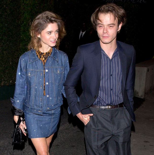 'Stranger Things' stars, Natalia Dyer and Charlie Heaton hold hands as they leave the 'MIU MIU' clothing launch in West Hollywood, CA. 14 Sep 2018 Pictured: Natalie Dyer, Charlie Heaton. Photo credit: MEGA TheMegaAgency.com +1 888 505 6342