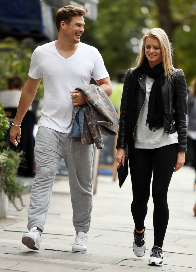 Lee Ryan and Nadiya Bychkova take a break from Strictly Rehearsals in North London. Pictured: Ref: SPL5024315 140918 NON-EXCLUSIVE Picture by: SplashNews.com Splash News and Pictures Los Angeles: 310-821-2666 New York: 212-619-2666 London: 0207 644 7656 Milan: +39 02 4399 8577 Sydney: +61 02 9240 7700 photodesk@splashnews.com World Rights,