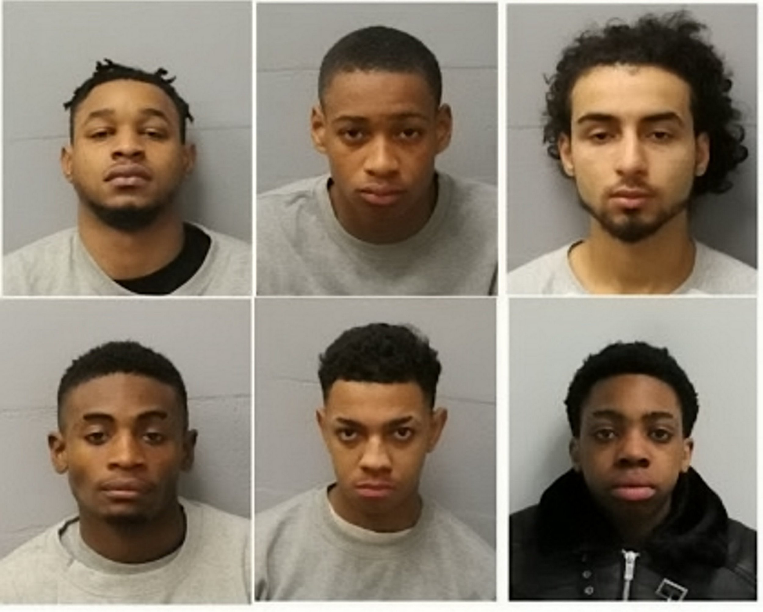 The gang sentenced for their part in an altercation that led to life threatening injuries.. See national story NNDRILL. A drill music gang whose bragged about attacking rivals in a postcode gang feud were jailed for nearly 15 years after one of their own almost bled to death. The gang from Shepherds Bush waged ?tit for tat? gun and knife war with another gang from neighbouring Kensington and Chelsea since the summer of 2016. Both gangs released numerous drill music videos boasting about stabbing or robbing their rivals fuelling the violence. And in several tit-for-tat incidents gang members were stabbed and shot.