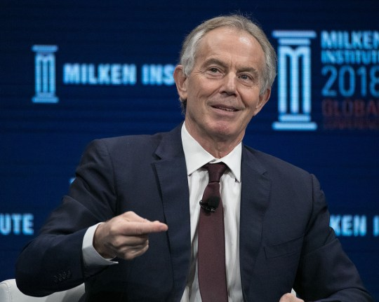 Mandatory Credit: Photo by Javier Rojas/Prensa Internacional via ZUMA/REX/Shutterstock (9646583bc) Tony Blair, Former Prime Minister, Great Britain and Northern Ireland during the 2017 Milken Institute Global Conference Milken Global Conference, Los Angeles, USA - 30 Apr 2018