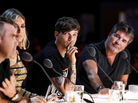 X Factor's Louis Tomlinson meets Simon Cowell's son Eric for the first time and it's adorable