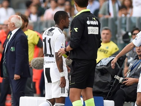 Douglas Costa apologises to Juventus fans for 'ugly' spitting incident