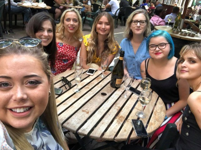 (L-R) George, Ashley, Libby, Holly, Sharon, Charlotte and Josie (PA Real Life/Collect)