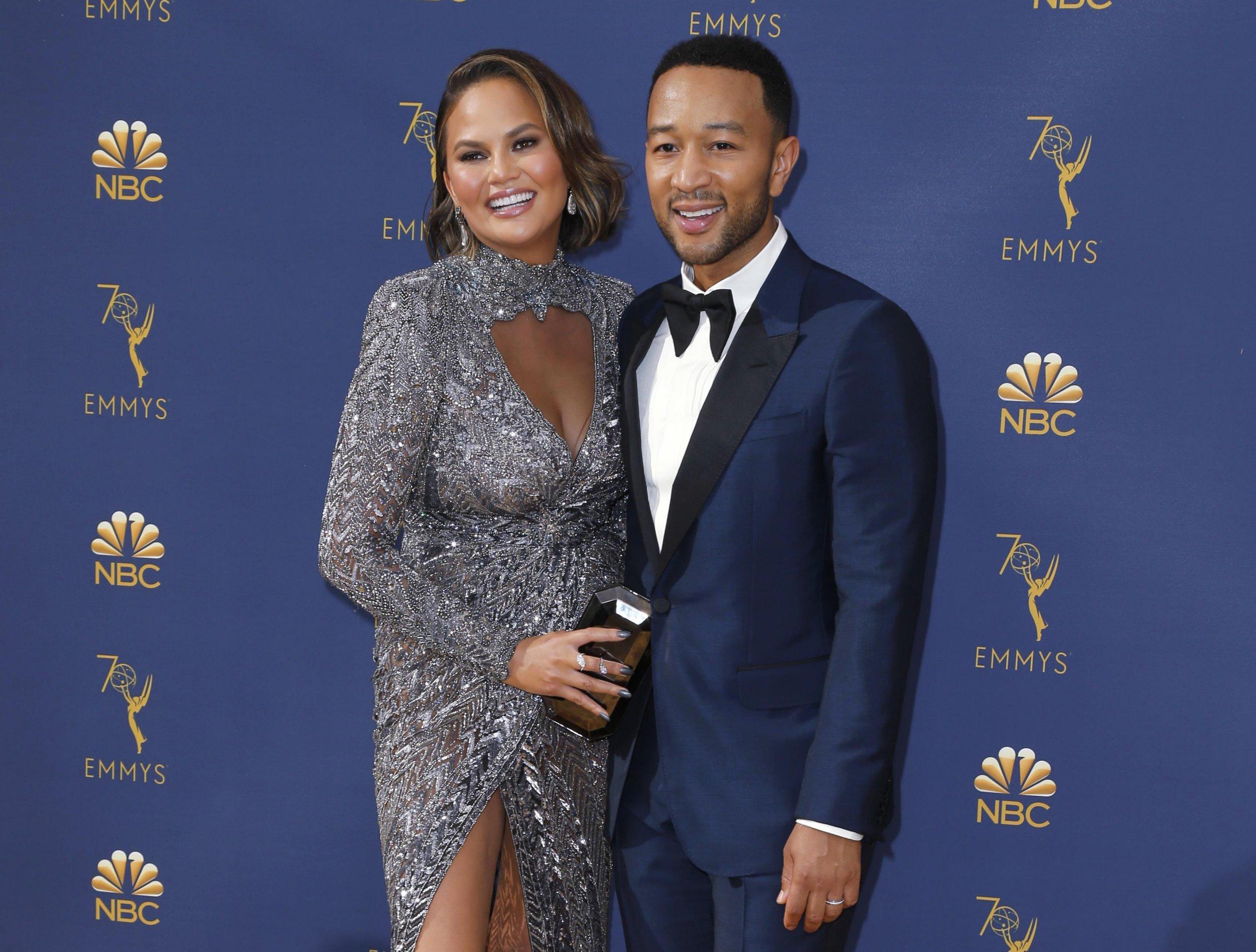 70th Primetime Emmy Awards??? Arrivals ??? Los Angeles, California, U.S., 17/09/2018 ??? Chrissy Teigen and John Legend. REUTERS/Kyle Grillot