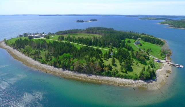 Aerial. NOVA Scotia???s most beautiful island could now be yours after being put on the market for around ??3.5m. Amazing aerial images show the lush green forest, perfectly manicured lawns and the 11-bedroom main residence. Other stunning pictures show the interior of the 11,040-square-foot house with wood-panelled walls, a sleek modern kitchen and a large decking area to enjoy the sun. Another photograph even shows a helicopter landing at the spectacular residence. Kaulbach Island in Mahone Bay in Nova Scotia, Canada, is listed on www.valid-private-islands.de for around ??3.5m. Vladi Private Islands / mediadrumimages.com
