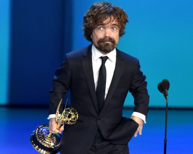 Mandatory Credit: Photo by Michael Buckner/Variety/REX (9885449jz) Peter Dinklage - Outstanding Supporting Actor in a Drama Series - 'Game of Thrones' 70th Primetime Emmy Awards, Show, Los Angeles, USA - 17 Sep 2018
