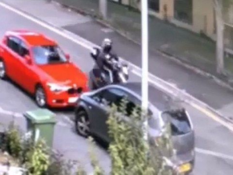 Hit-and-run rider hit child so hard he was pinned to moped then flung into the road