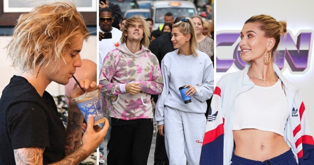Justin Bieber and Hayley Baldwin seen heading to the London Eye in London. Justin and Hayley were seen making a pit stop on route at Cafe Nero for some afternoon Coffees in Capital. The couple were seen laughing and joking together as they made they way onto the London Eye. Justin and Hayley were spotted kissing as they waiting for their private pod to become available. 18 Sep 2018 Pictured: Justin Bieber & Hayley Baldwin. Photo credit: MEGA TheMegaAgency.com +1 888 505 6342