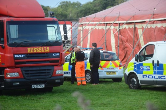 Cops have cordoned off a travelling circus in Lincolnshire after unconfirmed reports that a body has been found. Russells International Circus at Love Lane Corner in Grimsby following a suspected serious incident. A number of officers have been spotted at the circus, located next to Pennells Garden Centre on Humberston Road, since at least 7.30am this morning. A number of police are at the scene. There is one officer outside the big top along with crime scene investigation officers who are believed to be gathering evidence inside the main tent.