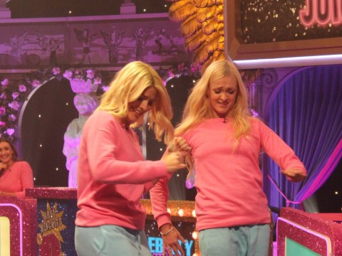 Celebrity Juice takes the biscuit as Holly Willoughby and Fearne Cotton attempt ridiculous new game