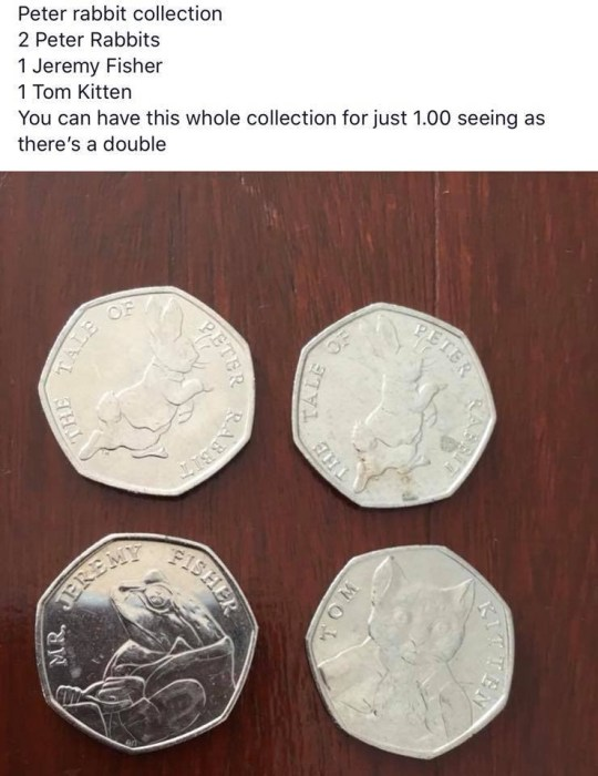 Woman causes confusion after trying to sell 4 50ps for ??1 METRO GRAB taken with permission from: https://www.facebook.com/plymouthgossipgirls/photos/a.1014404232031197/1245542342250717/?type=3&theater Credit: Plymouth Gossip Girls/Facebook