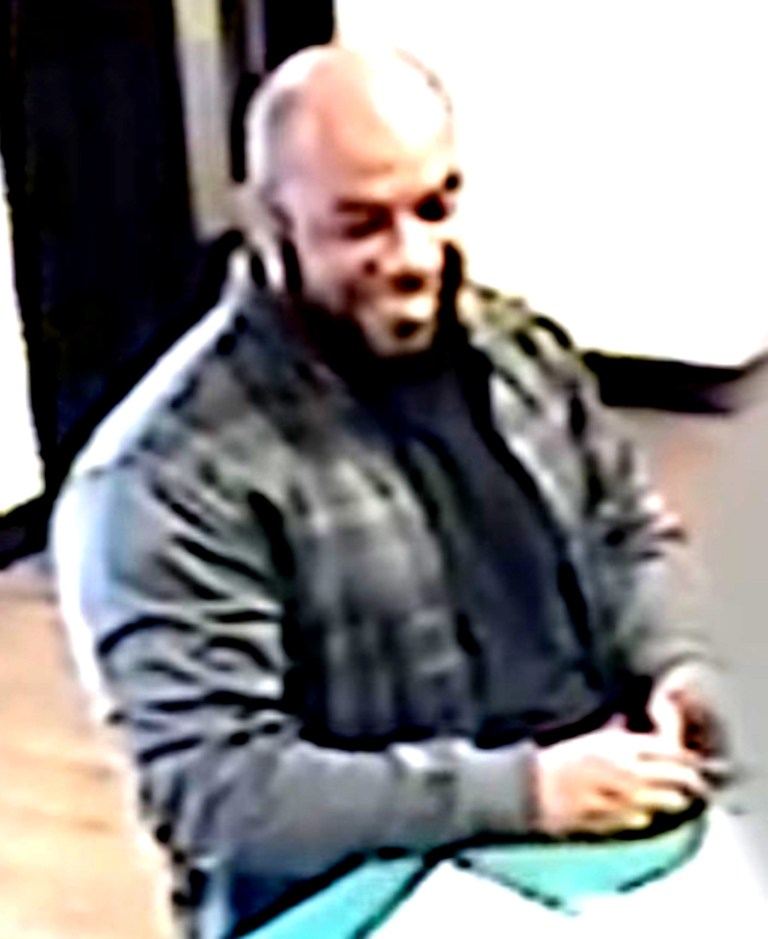 Pic shows: CCTV of days leading up to Westminster attack by Khalid Masood seen here smiling broadly at reception of hotel Days Inn hotel Cobham Services Surrey where he stayed in days leading up to the attack supplied by Pixel8000 Ltd
