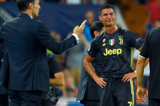 b5017801173 Juventus star Cristiano Ronaldo pleads innocence to Valencia coach after  red card