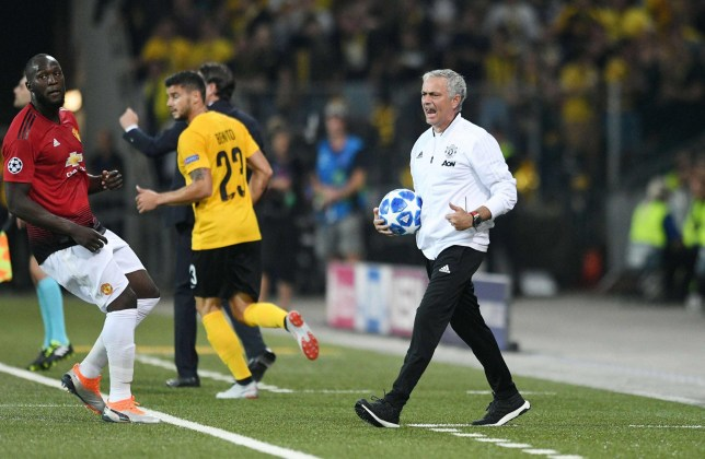 Manchester head coach Jose Mourinho during the Champions League match between Young Boys Bern and Manchester United at Stade de Suisse, Wankdorf on September 19, 2018 in Bern, Switzerland. (Photo by Sebastien Bozon/Icon Sport via Getty Images)