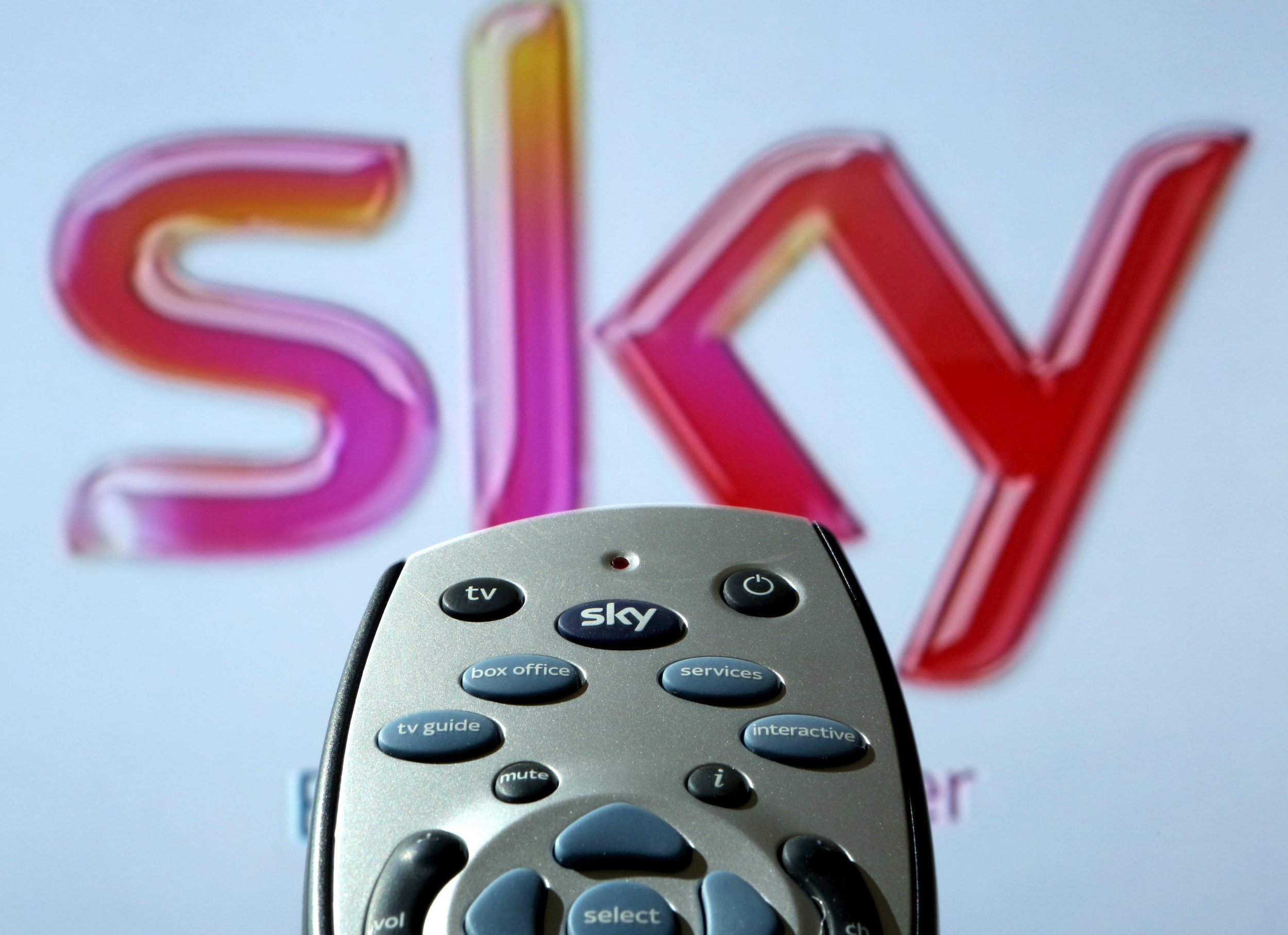 Undated file photo of a Sky HD TV remote control. The long-running takeover battle for Sky will be decided in a quick-fire auction finishing on Saturday night, Britain's Takeover Panel has announced. PRESS ASSOCIATION Photo. Issue date: Thursday September 20, 2018. The Panel said Rupert Murdoch's 21st Century Fox and US media giant Comcast have agreed to settle the takeover tussle with a three-round auction that is due to kick off at 5pm on Friday and end during the evening of September 22. See PA story CITY Sky. Photo credit should read: Chris Radburn/PA Wire