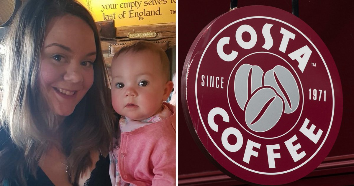 Breastfeeding boycott - teacher vowed to boycott Costa after they defended their decision to ask her to leave a shop while breastfeeding her baby - because she hadn't bought anything Providers: Kennedy News and Media/ Getty
