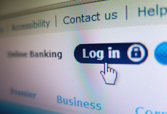 The login screen for Barclays online banking in a web browser