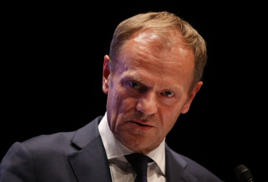 SALZBURG, AUSTRIA - SEPTEMBER 20: European Council President Donald Tusk speaks to the media at the conclusion of the summit of leaders of the European Union on September 20, 2018 in Salzburg, Austria. Tusk expressed doubt over the United Kingdom's proposal regarding its Brexit negotiations. (Photo by Sean Gallup/Getty Images)