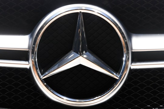 Mandatory Credit: Photo by Isopix/REX/Shutterstock (9313740m) Mercedes car badge logo Brussels Motor Show, Belgium - 10 Jan 2018 From 12 to 21 January 2018 lovers of cars, motorcycles and other means of transport can visit the show in Brussels Expo