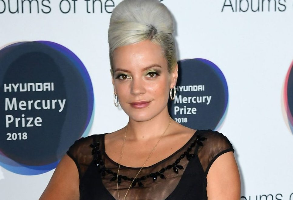 Lily Allen attending the 2018 Hyundai Mercury Music Prize, held at the Eventim Apollo, London. For editorial use in the context of the 2018 Hyundai Mercury Prize only. PRESS ASSOCIATION Photo. Picture date: Thursday September 20, 2018. See PA story SHOWBIZ Mercury. Photo credit should read: Ian West/PA Wire