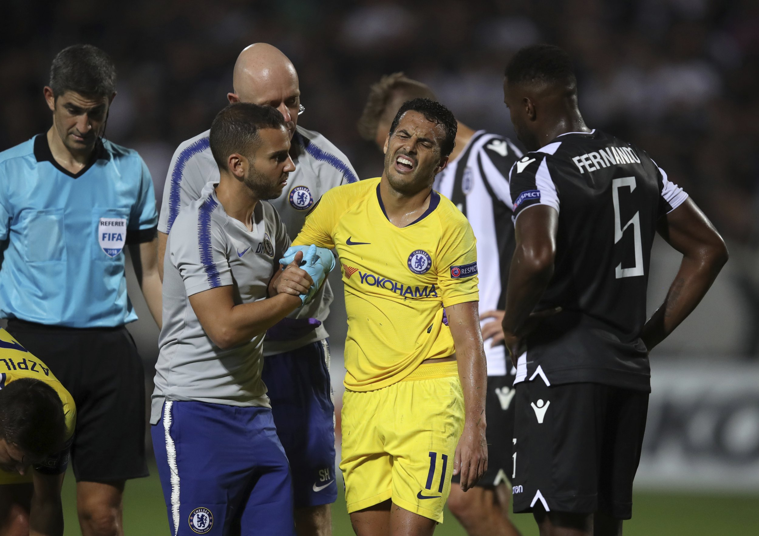 Maurizio Sarri gives update on Pedro shoulder injury