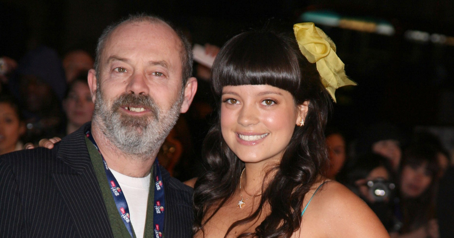 Lily Allen & Keith Allen Attend The Brit Awards 2007 At London'S Earls Court. (Photo by Antony Jones/Justin Goff\UK Press via Getty Images)