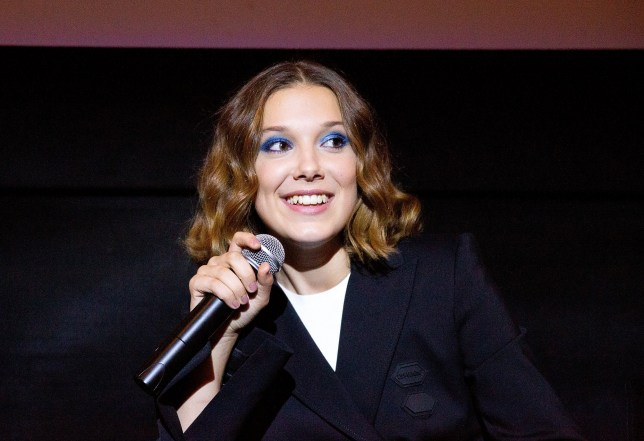 """NEW YORK, NY - AUGUST 21: Actress Millie Bobby Brown speaks at """"Stranger Things Season 2"""" Screening at AMC Lincoln Square Theater on August 21, 2018 in New York City. (Photo by Paul Zimmerman/WireImage)"""