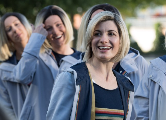 Mandatory Credit: Photo by James Gourley/REX (9891019c) Jodie Whittaker Doctor Who Season 11 Launch Photocall, Sheffield Train Station, UK - 24 Sep 2018