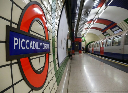 Mandatory Credit: Photo by Dinendra Haria/REX (9894371a) Piccadilly Circus tube station Piccadilly Line tube strike, London, UK - 25 Sep 2018 Piccadilly line drivers are planning to hold a 48 hours strike from noon on Wednesday 26 September until the afternoon of Friday 28 September. Then again on Friday evening, with no Night Tube, until the morning of Saturday 29 September.