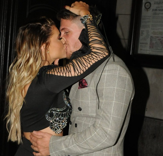Hayley Hughes and Tom Zanetti departures at The Reality Tv Awards 2018 at the Porchester Halls