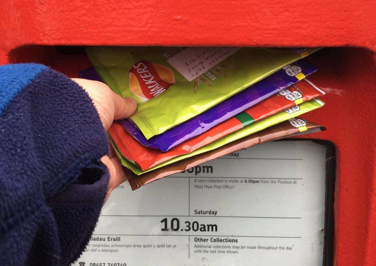 Royal Mail beg recycling campaigners to stop posting crisp packets