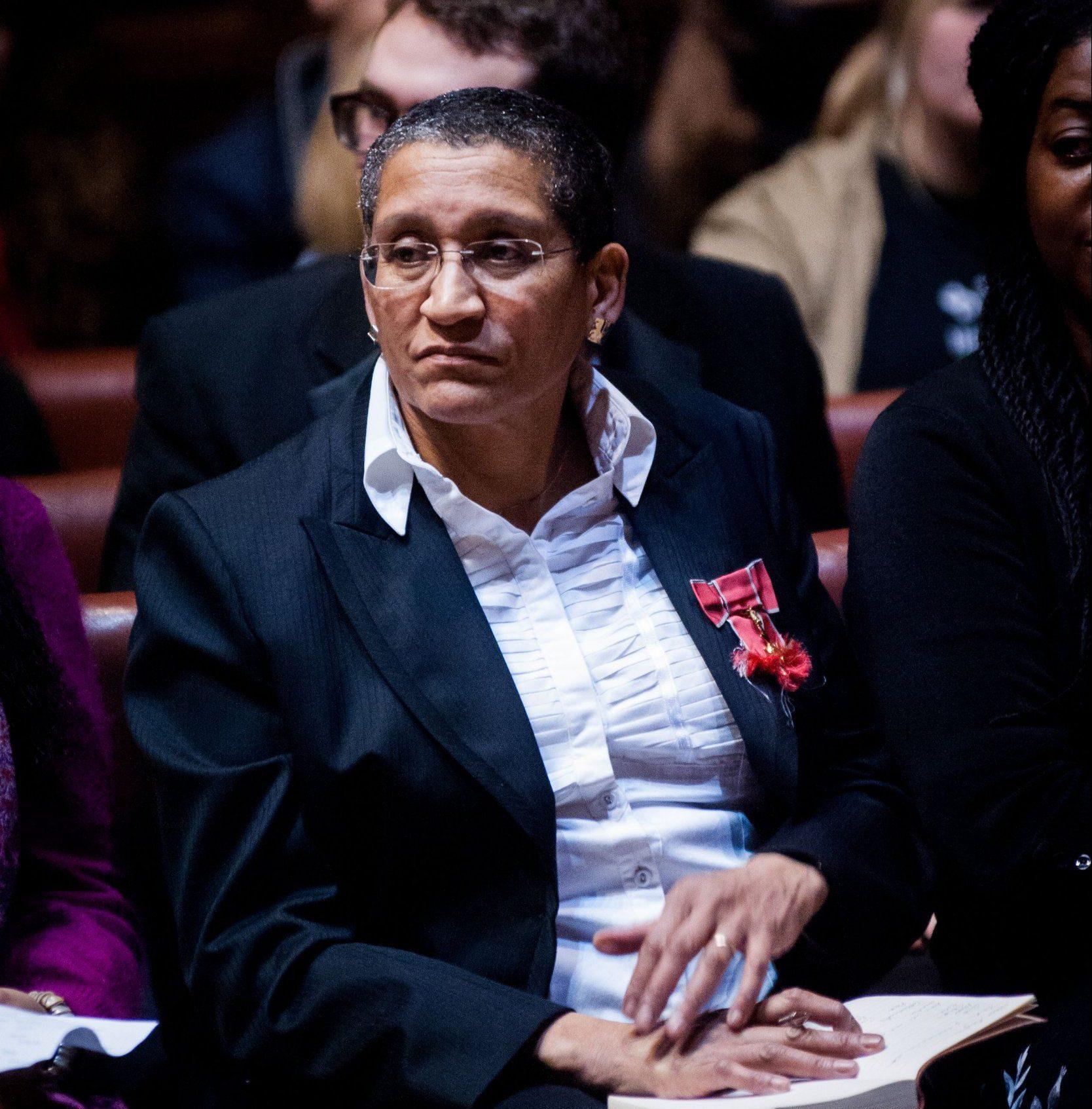 Mandatory Credit: Photo by Roger Askew/REX/Shutterstock (4432636w) Linda Bellos Feminism Debate at the Oxford Union, Britain - 12 Feb 2015