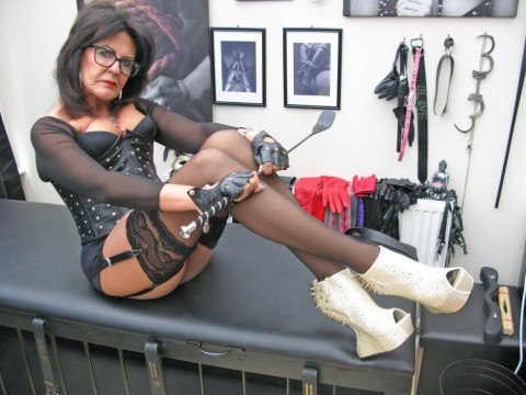 67-year-old dominatrix makes men dress as maids and clean her house