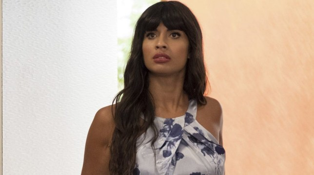"""THE GOOD PLACE -- """"Dance Dance Resolution"""" Episode 203 -- Pictured: Jameela Jamil as Tahani -- (Photo by: Colleen Hayes/NBC/NBCU Photo Bank via Getty Images)"""