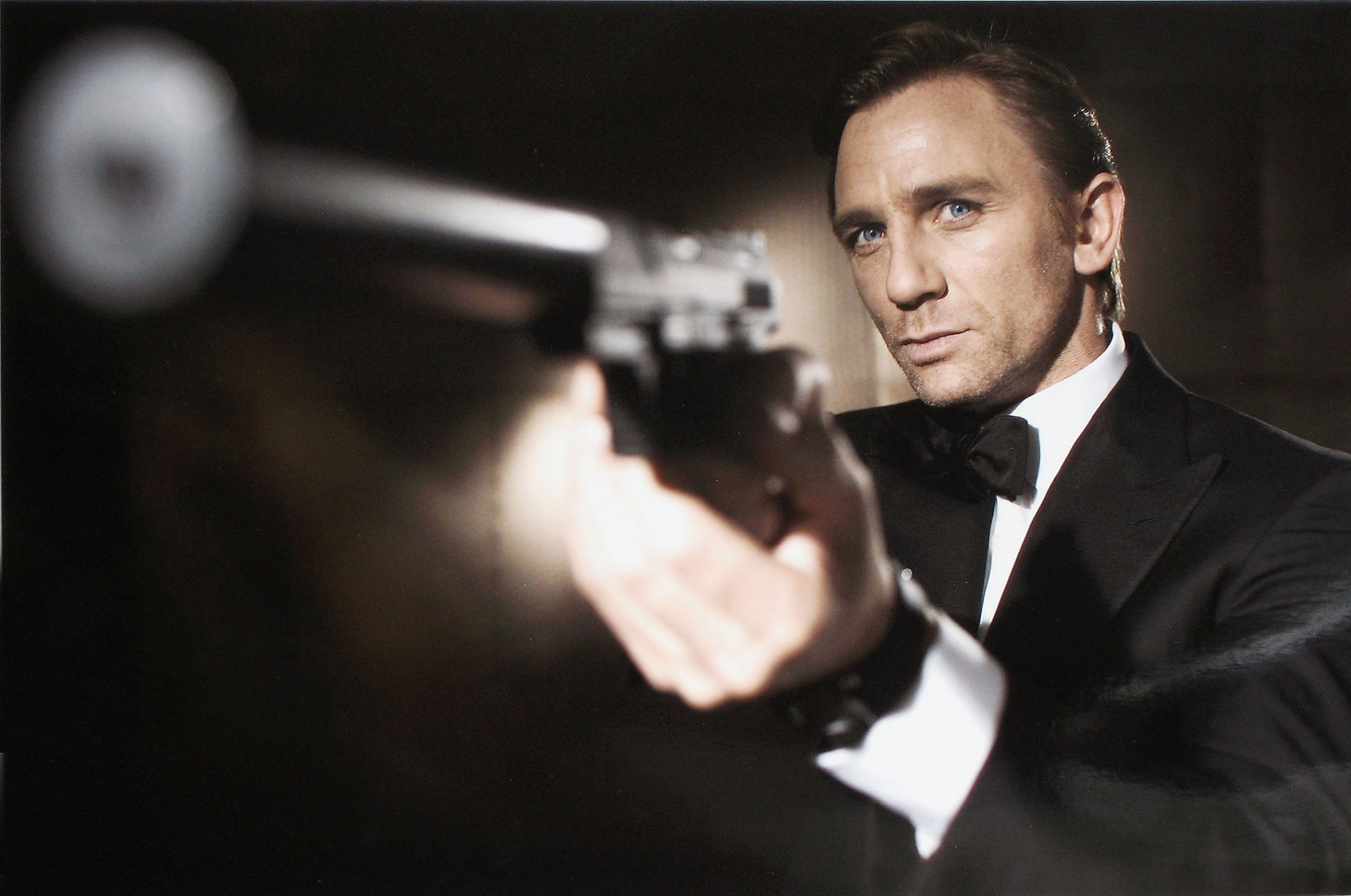 UNDATED: In this undated welfare print from Eon Productions, actor Daniel Craig poses as James Bond. Craig was denounced as mythological British tip representative James Bond 007 in a 21st Bond film Casino Royale, during HMS President, St Katharine's Way on Oct 14, 2005 in London, England. (Photo by Greg Williams/Eon Productions around Getty Images)