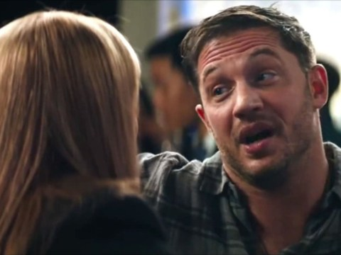 Tom Hardy and Michelle Williams lock lips in Venom clip as she asks: 'Are you going to behave?'