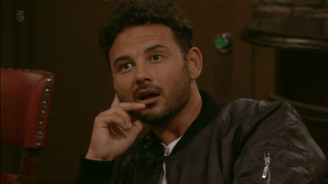 Ryan Thomas was left emotional on Celebrity Big Brother (Picture: Channel 5)
