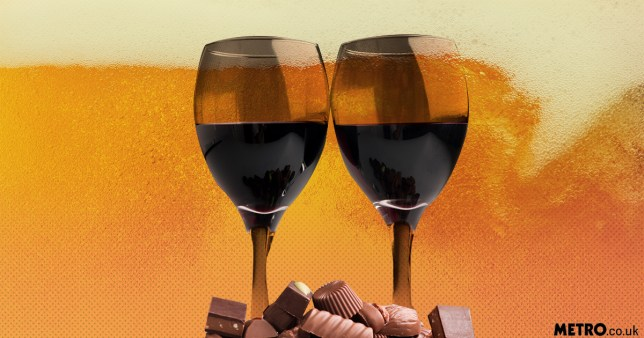 BOTTOMS UP - Beer, wine and chocolate can be part of a diet that helps you live longer getty