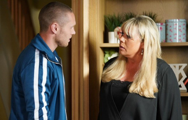 Sharon and Keanu worry in EastEnders