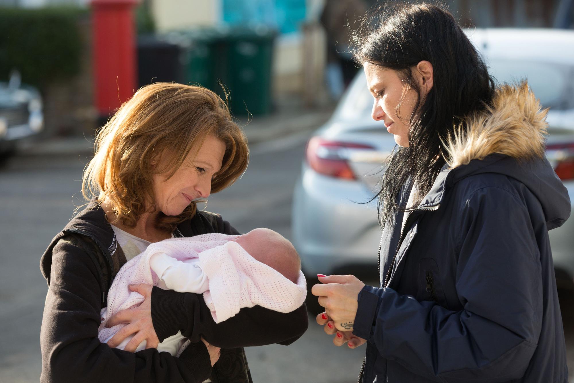 EastEnders spoilers: Hayley Slater abandons baby – will she lose her forever?