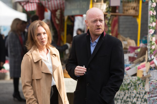 Max and Rainie are nervous in EastEnders