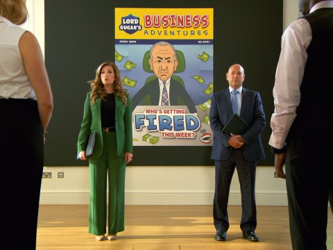 Who was fired from The Apprentice in week two's comic task?