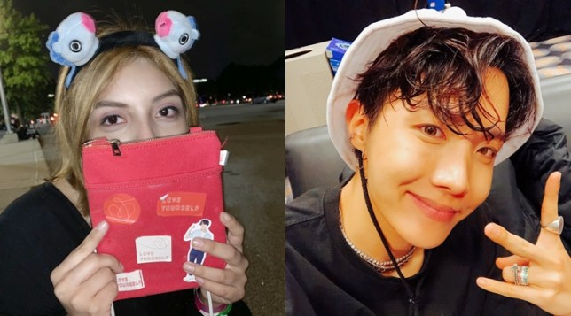 BTS' J-Hope personally gifts fan his mini bag during New York