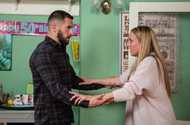 Rebecca and Ross make a decision in Emmerdale