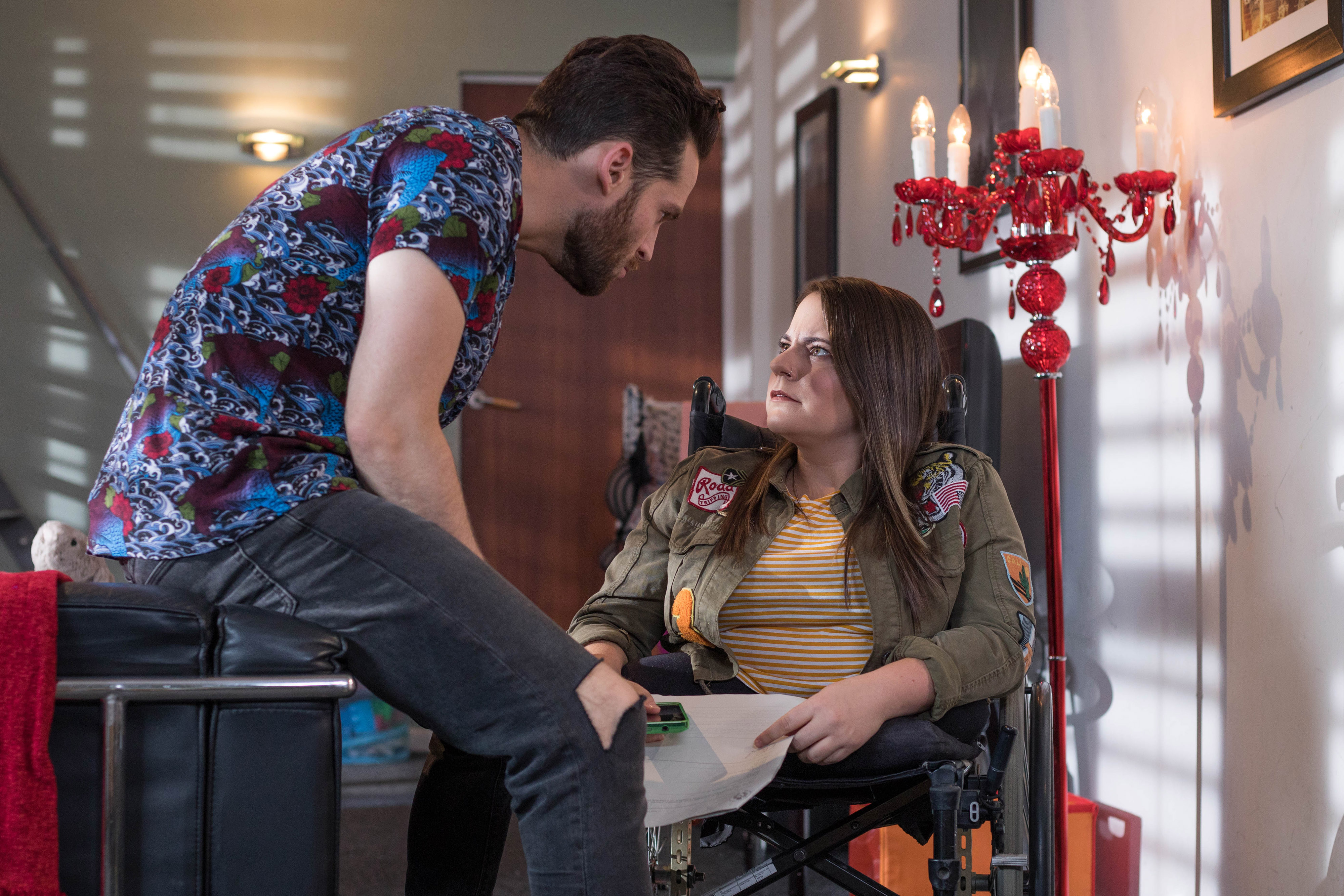 Liam finds out in Hollyoaks
