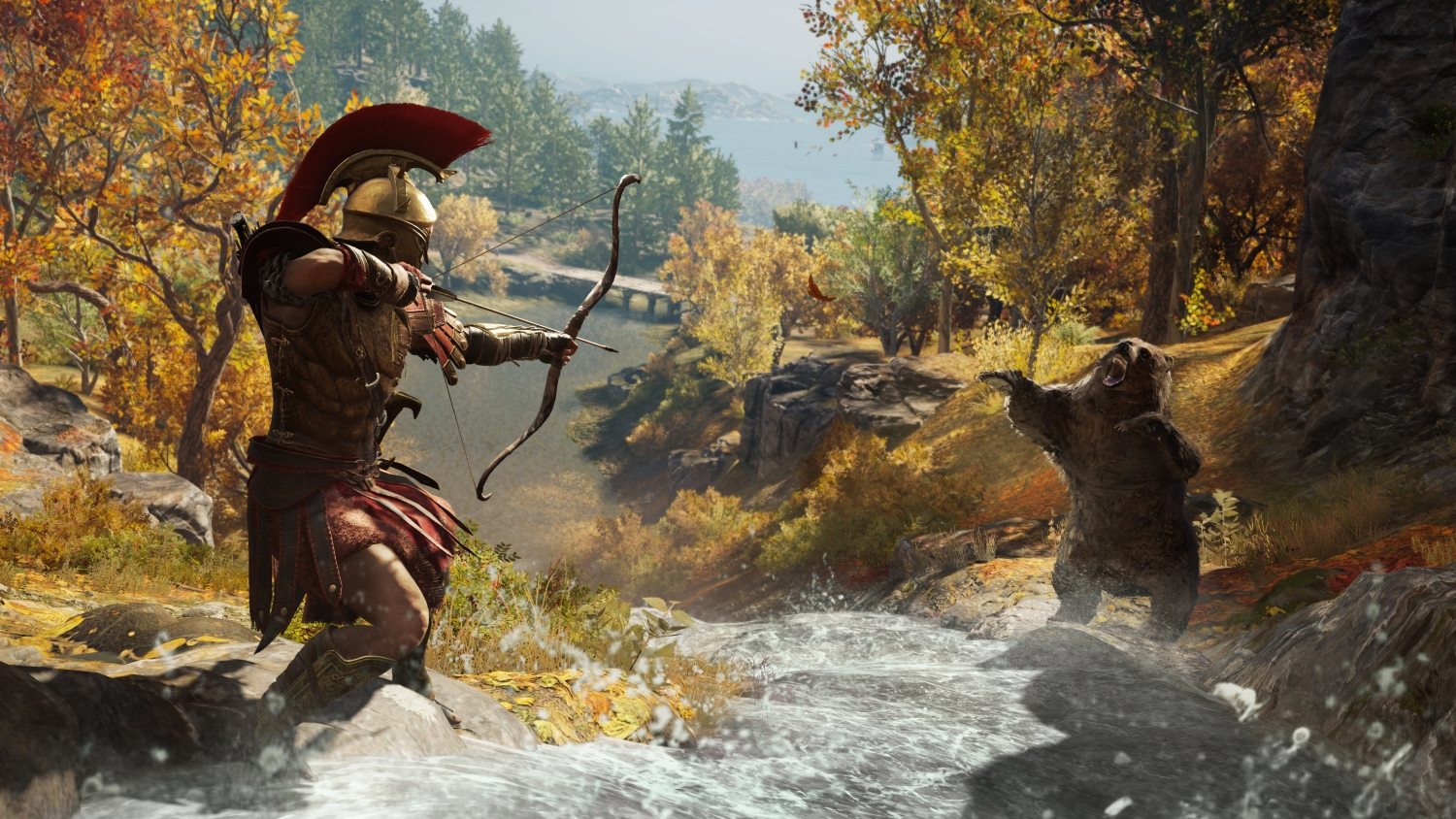Assassin's Creed Odyssey (PS4) - bears are a slightest of your problems