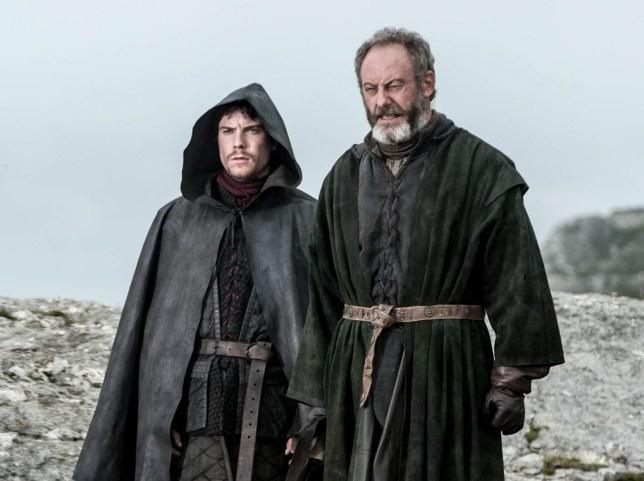 Television programmes: Game of Thrones. Joe Dempsie as Gendry; Liam Cunningham as Davos Seaworth.. HBO Enterprises