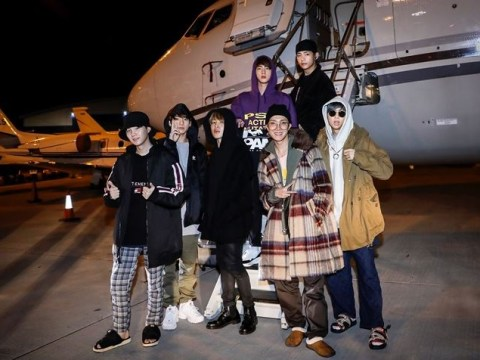 BTS arrive in London in style as they fly into Europe on private jet
